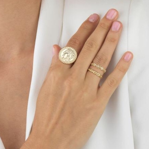 Jewelry - NEW Gold Coin Ring